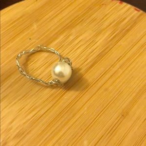 Jewelry - Wire Wrapped Pearl Knot Ring